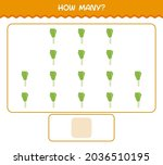 how many cartoon leek. counting ... | Shutterstock .eps vector #2036510195