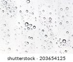 drops of water on glass | Shutterstock . vector #203654125