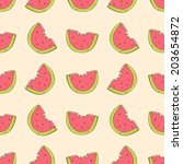seamless cute pattern with... | Shutterstock .eps vector #203654872