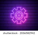 aim and gear icon color glowing ...   Shutterstock .eps vector #2036582942