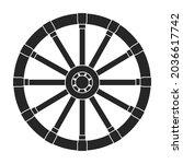 wild west wheel vector icon...   Shutterstock .eps vector #2036617742