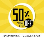 fifty percent special offer. 50 ...   Shutterstock .eps vector #2036645735