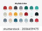 rgb color guide. vector... | Shutterstock .eps vector #2036659475
