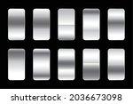 metallic silver gradients...