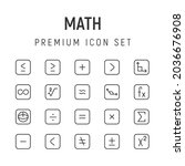 premium pack of math line icons....