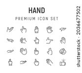 premium pack of hand line icons....