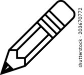 pencil vector  | Shutterstock .eps vector #203670772