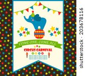 circus party card design for... | Shutterstock .eps vector #203678116