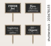 Wooden Chalk Food Signs