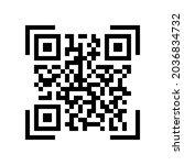 vector qr code sample for... | Shutterstock .eps vector #2036834732
