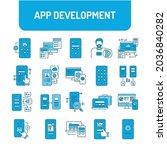 app development color line...