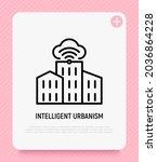 smart city  intelligent...   Shutterstock .eps vector #2036864228