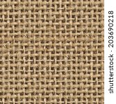 seamless  tileable  fabric jute ... | Shutterstock . vector #203690218