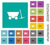 mine cart and pickaxe multi... | Shutterstock .eps vector #2036942522