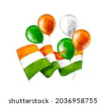 watercolor independence day...   Shutterstock . vector #2036958755