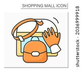 leather accessories color icon... | Shutterstock .eps vector #2036999918