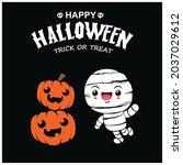 vintage halloween poster design ... | Shutterstock .eps vector #2037029612