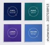 gradient plate music album... | Shutterstock .eps vector #2037038915