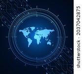 sci fi futuristic user...   Shutterstock .eps vector #2037042875