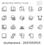 set of vector line icons... | Shutterstock .eps vector #2037055925