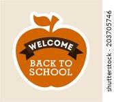 school design over beige... | Shutterstock .eps vector #203705746