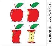 Red Apple  Apple Slice  Half Of ...