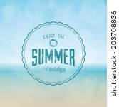 abstract summer label on a... | Shutterstock .eps vector #203708836