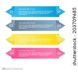 modern infographics colorful... | Shutterstock .eps vector #203709685