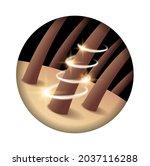 haircare icon   hair renew ... | Shutterstock .eps vector #2037116288