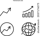 trending icons set isolated on...   Shutterstock .eps vector #2037176075