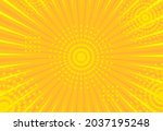 art yellow comics. abstract... | Shutterstock .eps vector #2037195248