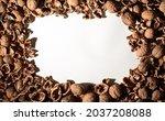 Empty Walnut Shell Frame....