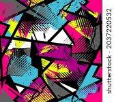 abstract seamless grunge...   Shutterstock .eps vector #2037220532