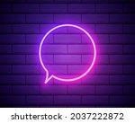 speech bubble pink glowing neon ...