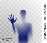 blue shadow blur of horror man...   Shutterstock .eps vector #2037236888