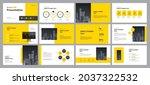creative business presentation...   Shutterstock .eps vector #2037322532
