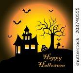 vector illustration  halloween  ... | Shutterstock .eps vector #203740555