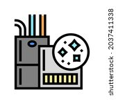 indoor air quality color icon...   Shutterstock .eps vector #2037411338