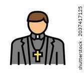 catholic religion color icon...   Shutterstock .eps vector #2037417125