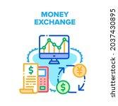 money exchange vector icon...   Shutterstock .eps vector #2037430895