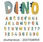 dinosaur alphabet vector set... | Shutterstock .eps vector #2037438905
