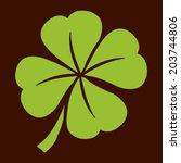 green lucky four leaf irish... | Shutterstock .eps vector #203744806
