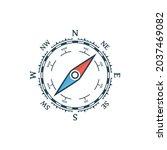 compass vector icon. nautical...   Shutterstock .eps vector #2037469082
