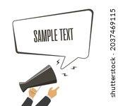 megaphone and speech bubbles in ...   Shutterstock .eps vector #2037469115