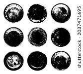 set of black grunge texture...   Shutterstock .eps vector #2037471695