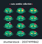 collection of cute zombie faces....   Shutterstock .eps vector #2037499862