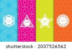 set of colorful geometric... | Shutterstock .eps vector #2037526562