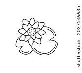 lotus  olor line icon....