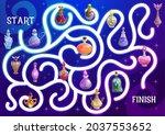 halloween maze or labyrinth...   Shutterstock .eps vector #2037553652