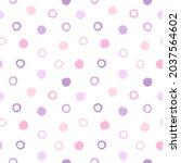 brush drawn uneven dots... | Shutterstock .eps vector #2037564602
